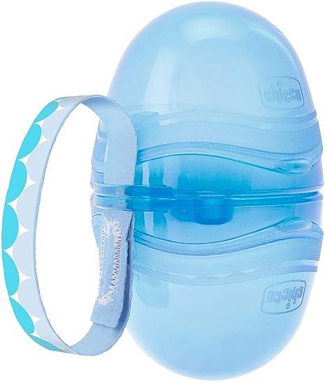 Chicco - Portachupetes de dos chupetes individuales, color azul: Amazon.es: Bebé