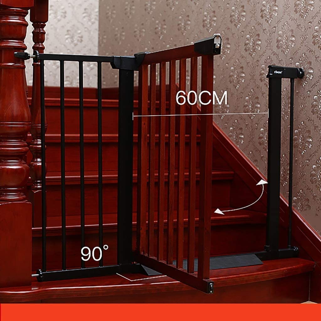 Puerta de seguridad para niños – Perforación libre – Madera maciza – alto – 74,5 cm – montado en escaleras/puerta de cocina – puerta de aislamiento para bebé/mascota – Color madera ccgdgft Talla:65-72CM: Amazon.es: Hogar