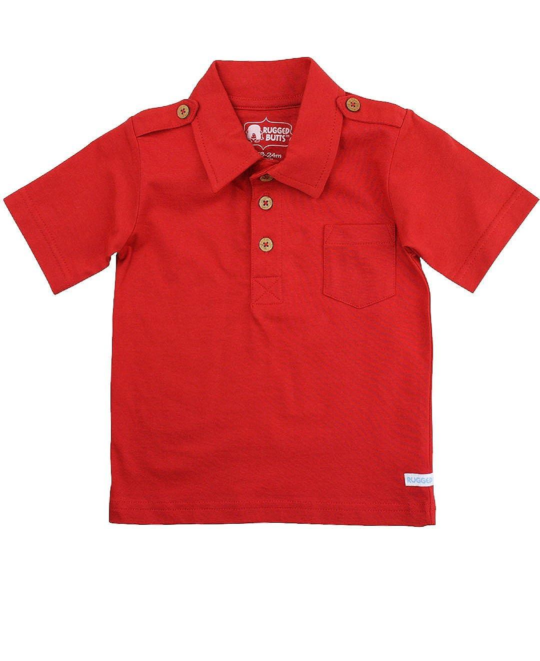 RuggedButts Baby/Toddler Boys Short Sleeve Polo Pocket BSKYYXX-1PPL-SC-BABY