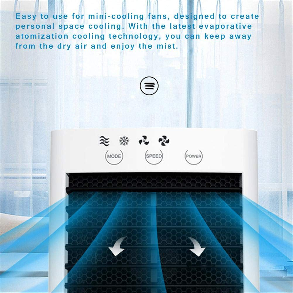 Flickering Smartey Compact Mini Air Conditioner Personal Space Cooler Desk Fan for Home Office Room Great Gift