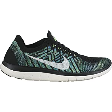 2016 Nike - Wmns Free 4.0 Flyknit - Black Sail Voltage Lucky Green  - Designed