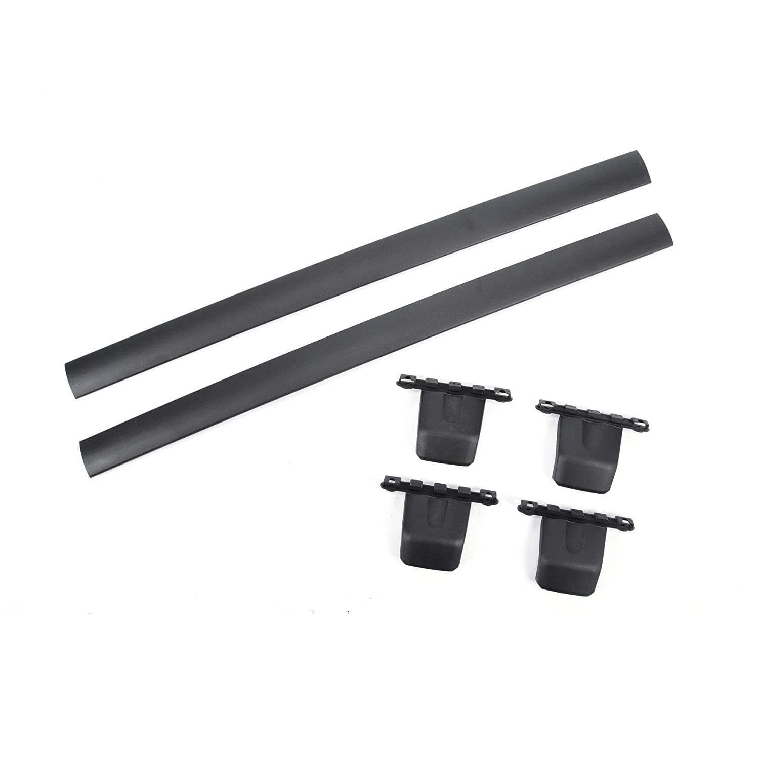 Brackets Mounting Hardwares Fit 09-15 Honda Pilot VIOJI 2pcs Black Aircraft Aluminum Roof Rack Cross Bars