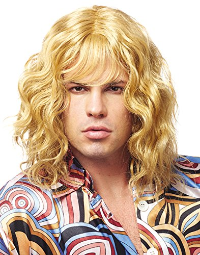 Franco American Novelty Company Franco Model Dude Men's 70's Blonde Wavy Wig One Size ()