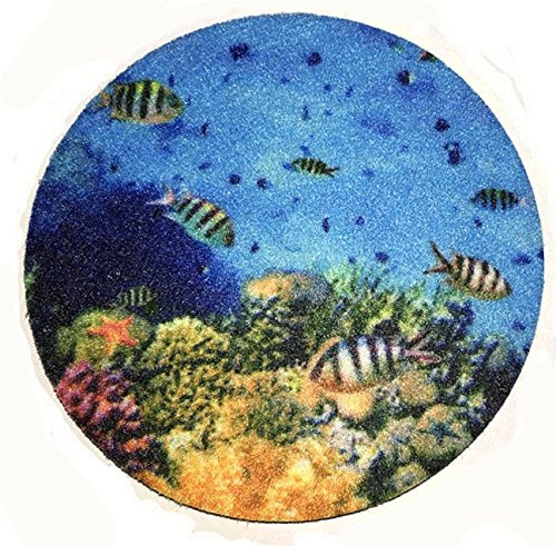 (Set of two super absorbent ocean car coasters for your car cup holder - Can be used as Wine Coasters - tropical fish car coasters)