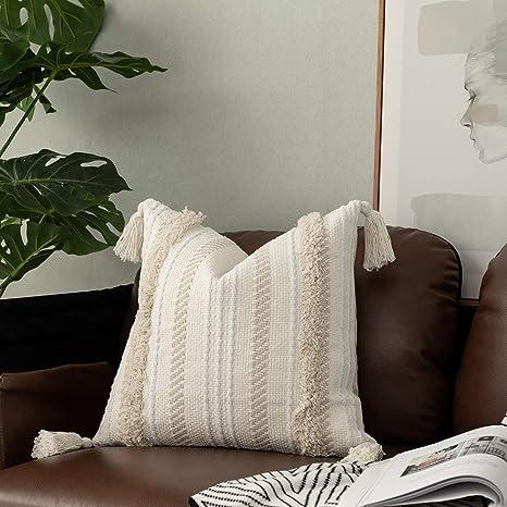 Amazon.com: Ojia - Fundas de almohada con borlas, diseño ...