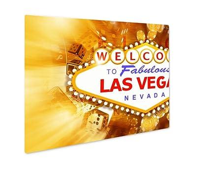 Amazon.com: Ashley Giclee Metal Panel Print, Las Vegas Game And Fun ...