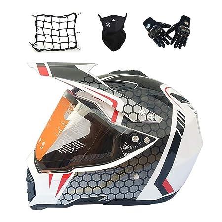JLB Casco de Motocross y Guantes de Parasol máscara de Red ...