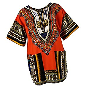 Blesiya Etnico Cappotto Stampe Africane Camicie T-shirt di Cotone