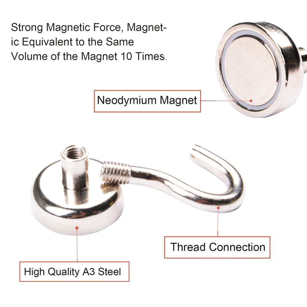 AUTIDEFY Magnetic Hook,25 Pack 12LB Strongest Heavy Neodymium Hanging Hooks D16 Multi-Purpose Indoor Outdoor Kitchen Bathroom Bedroom Garage Lockers Office