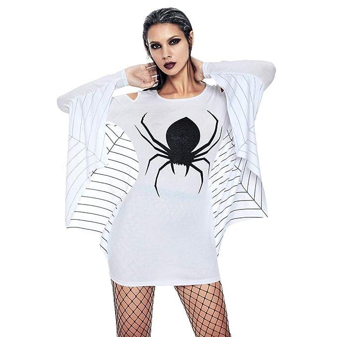 BaZhai de Halloween, Mini Vestido de Manga Larga de murciélago de murciélago de Manga Larga