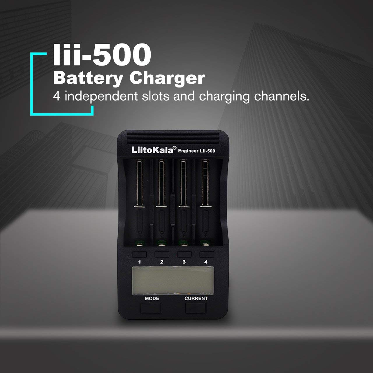 Amazon.com: Liitokala Lii-500 18650 Cargador de pantalla LCD ...