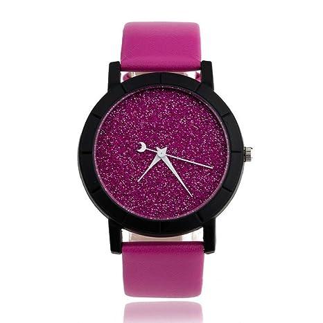 ATMM 2016 Estrella minimalista los relojes de moda para la correa de cuero del reloj de