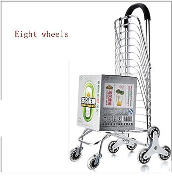 WYFC Carro de la compra plegable Subir escaleras. supermercado carrito de la compra de aluminio plegables carritos portátiles de mano carro puede b: ...