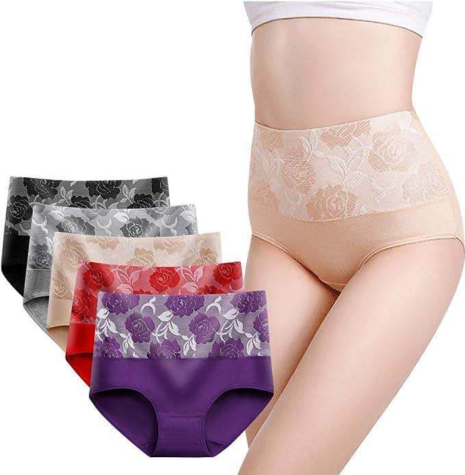 BOZEVON Bragas para Mujer Básicas Chica Waist Thickened Buttocks ...