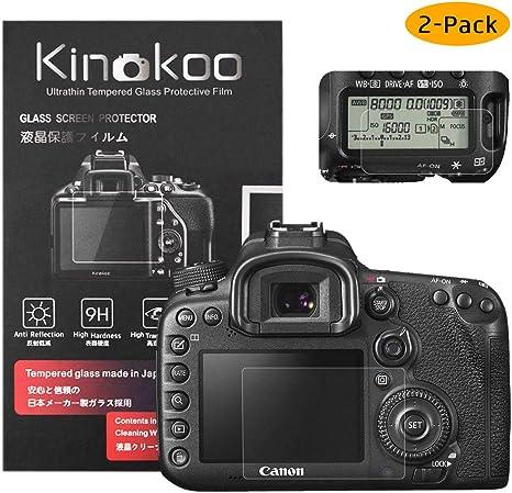 kinokoo Película de Vidrio Templado para Canon EOS 7D Mark II ...