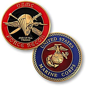USMC U.S. Marine Corps Force Recon Challenge Coin by Armed Forces Depot