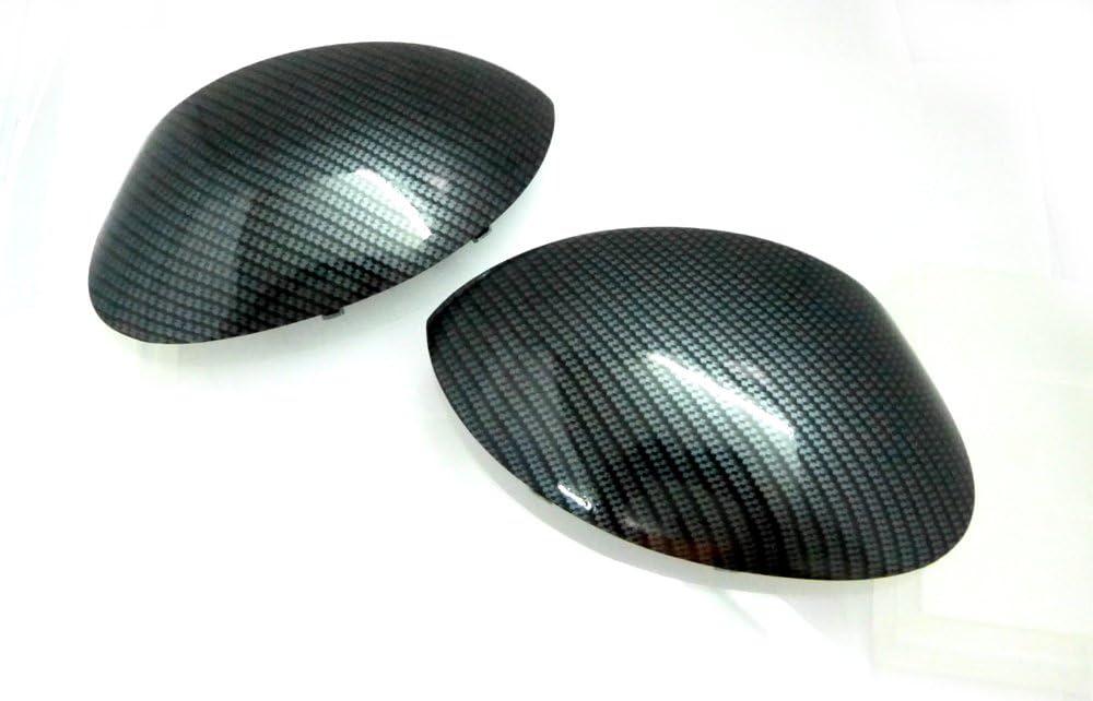 Juego de carcasas para espejos retrovisores con hidroimpresi/ón Efecto Fibra De Carbono