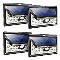 Litom 4 Unidades de Lámparas Solares Exterior Impermeable