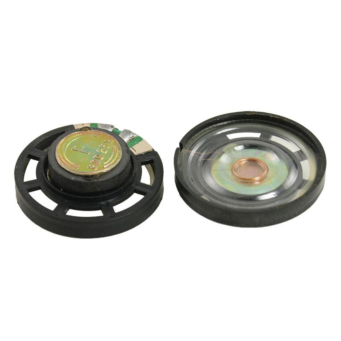 Altavoz 1.1 Altavoz de cascara de plastico delgado redondo de tipo magnetico externo 8 Ohm 0.25W 2 pzs R TOOGOO