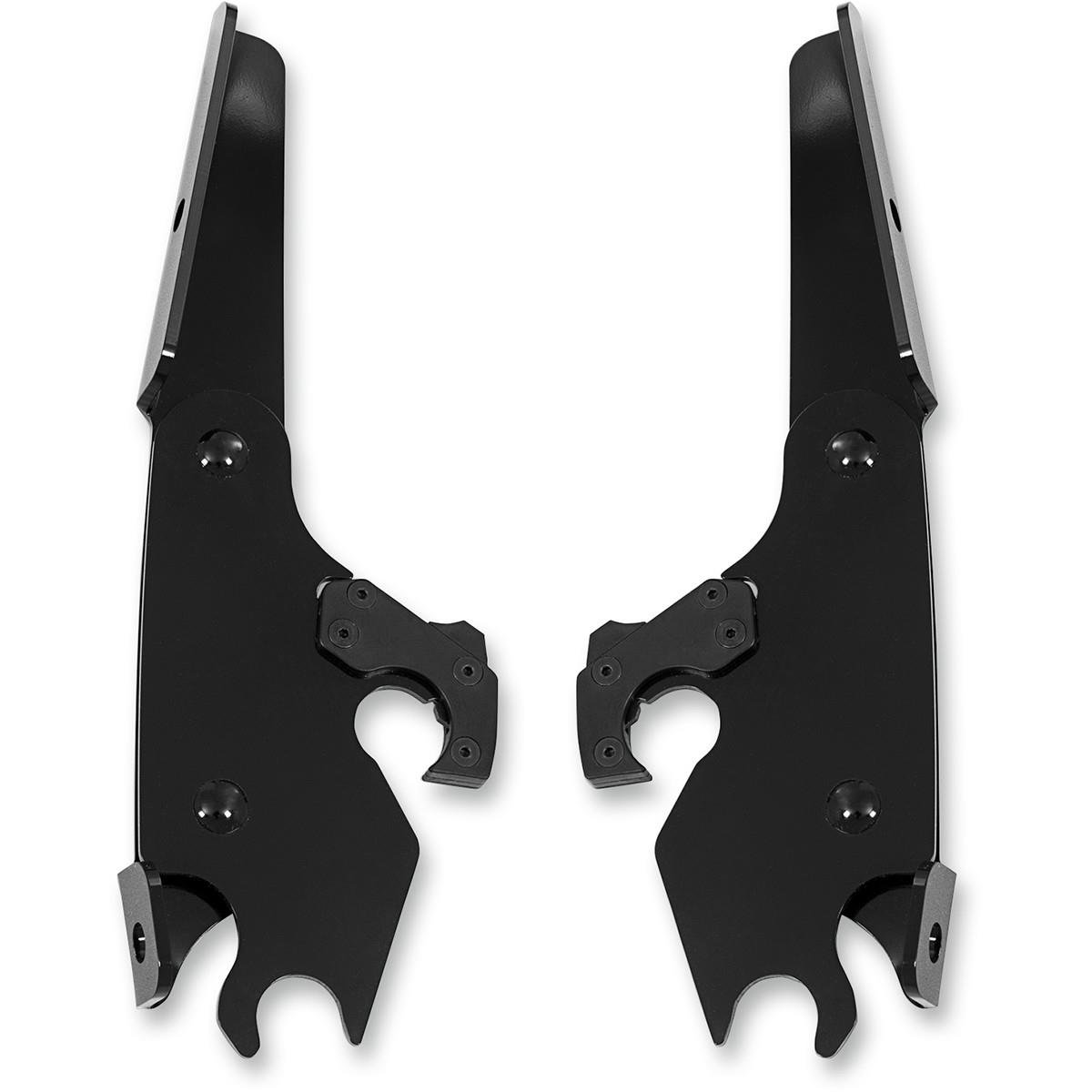 Memphis Shades Batwing Fairing Black Mounting Plates Only MEB1727