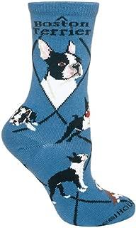 product image for Wheel House Designs Boston Terrier Argyle Socks (Shoe size 9-12)