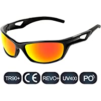 HODGSON Sports Polarized Glasses for Men or Women, UV400 Protection Unbreakable Sports Glasses for Cycling, Baseball Riding, Driving, Running, Golf and Other Outdoor Activities …