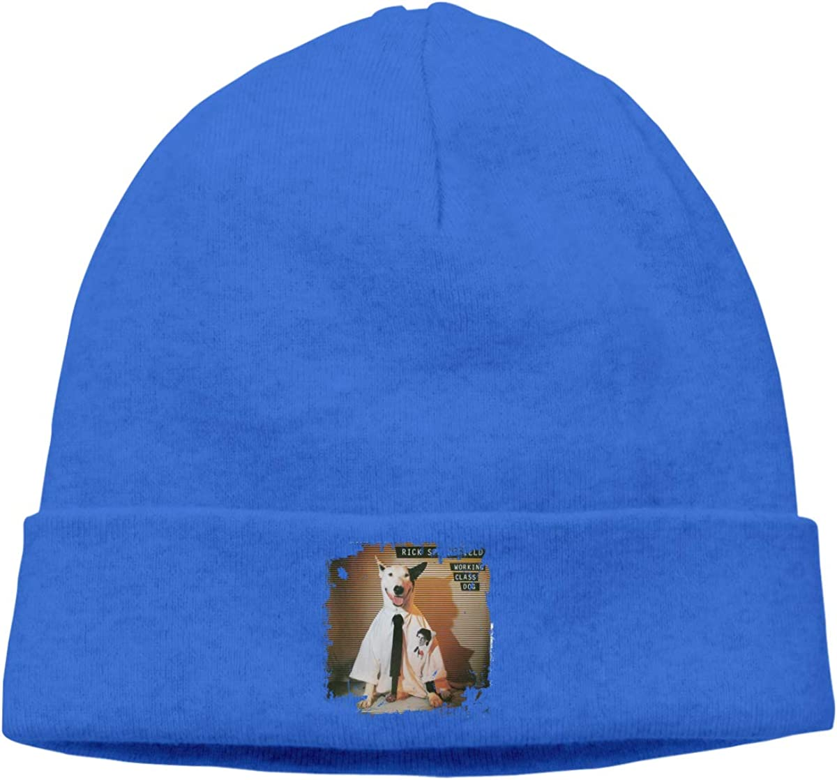 Edgar John Unisex Rick Springfield Working Class Dog Skull Hats Knitted Hat Beanie Black