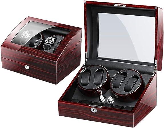 K-Y Caja Relojes Automaticos Winder Box Luxury Wooden para 4 Relojes de Pulsera + 6 Estuche de Almacenamiento (Color : B): Amazon.es: Hogar