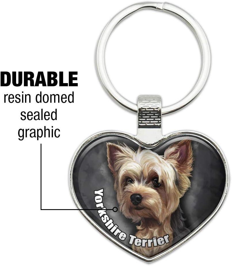 """Yorkshire Terrier"" handcrafted Keyring Heart Gift Token Dog York's"