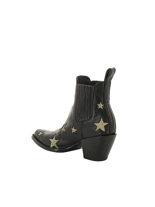 417ce65c6 Mexicana Mujer BL24061LB Negro Oro Cuero Botines  Amazon.es  Zapatos y  complementos