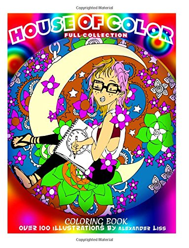 Download House of Color: Manga Styled Adult Coloring Book, Ebony art, zen doodle, Coloring book. ebook