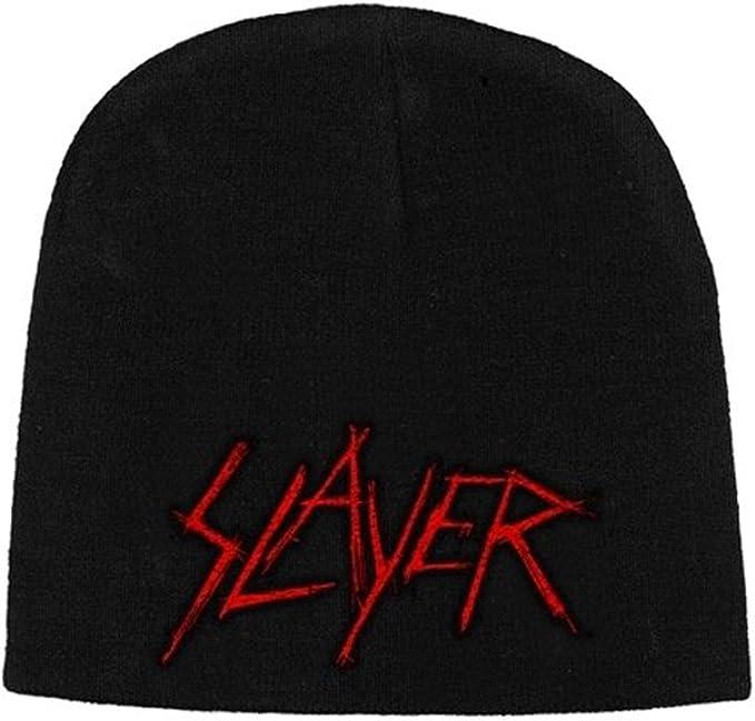 Slayer - Gorro de punto - para hombre Negro negro Talla única ...