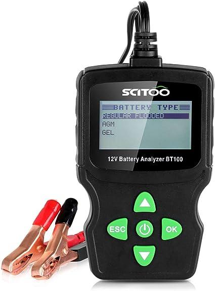 SCITOO BT100 Automotive Battery Analyzer 12V 100-1100 CCA Tester