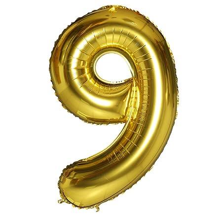Smarcy Globos Número 9 Decoración de Cumpleaños 9 Años ...