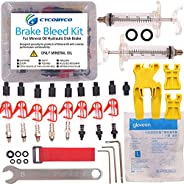 Cycobyco Mineral Oil Bicycle Hydraulic Disc Brake Bleed Kit for All Series Shimano/Magura/Tektro/ZOOM/CSC/ECHO