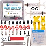 (US) CYCOBYCO Mineral Oil Bicycle Hydraulic Disc Brake Bleed Kit for All Series Shimano/Magura / Tektro/Zoom / CSC/Echo / Giant / HS33 / Nutt Cycling (Professional kit)