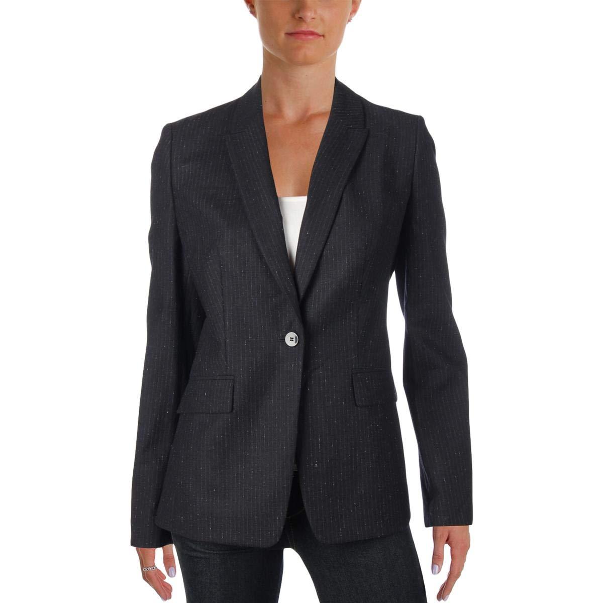 83b37e17c Hugo Boss BOSS Womens Jeronala Pinstripe Business Blazer Black 10 at Amazon  Women's Clothing store: