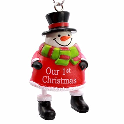 ganz personalized jingle bell snowman christmas ornament our 1st christmas