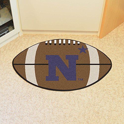 Fanmats Home Indoor Sports Team Logo US Naval Academy Football Rug 22