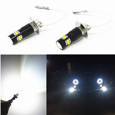 Alla Lighting Super Bright H3 LED Fog Lights Bulbs 12V H3 LED Bulbs 6000K Xenon White LED H3 Bulb High Power 50W H3 LED Lights Replacement for Fog Lamps: Automotive