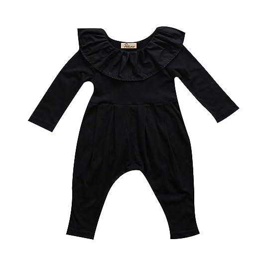 5baabf87814f4 Amazon.com: New Black Newborn Baby Girl Romper Princess Kids Girls ...