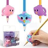 Pencil Grips, Firesara Original Owl Pencil Grips for Kids Handwriting Ergonomic 3 Fingers Sets Aid for Trainer Handwriting Po