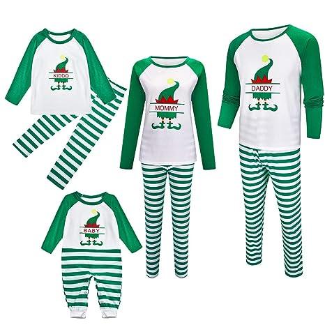 GOWE Pijamas Navideños Familiares - Ropa de Dormir para Mujeres ...