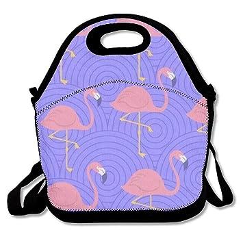 967a29498c3b Amazon.com: GoldBaoWang Flamingo Neoprene Lunch Picnic Bag Insulated ...