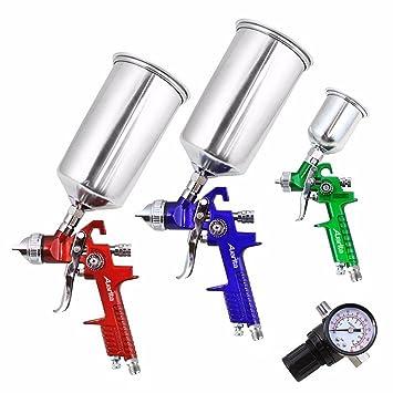 Auarita 3 Pcs Hvlp Air Spray Gun Kit Professionnel Pour Pistolet