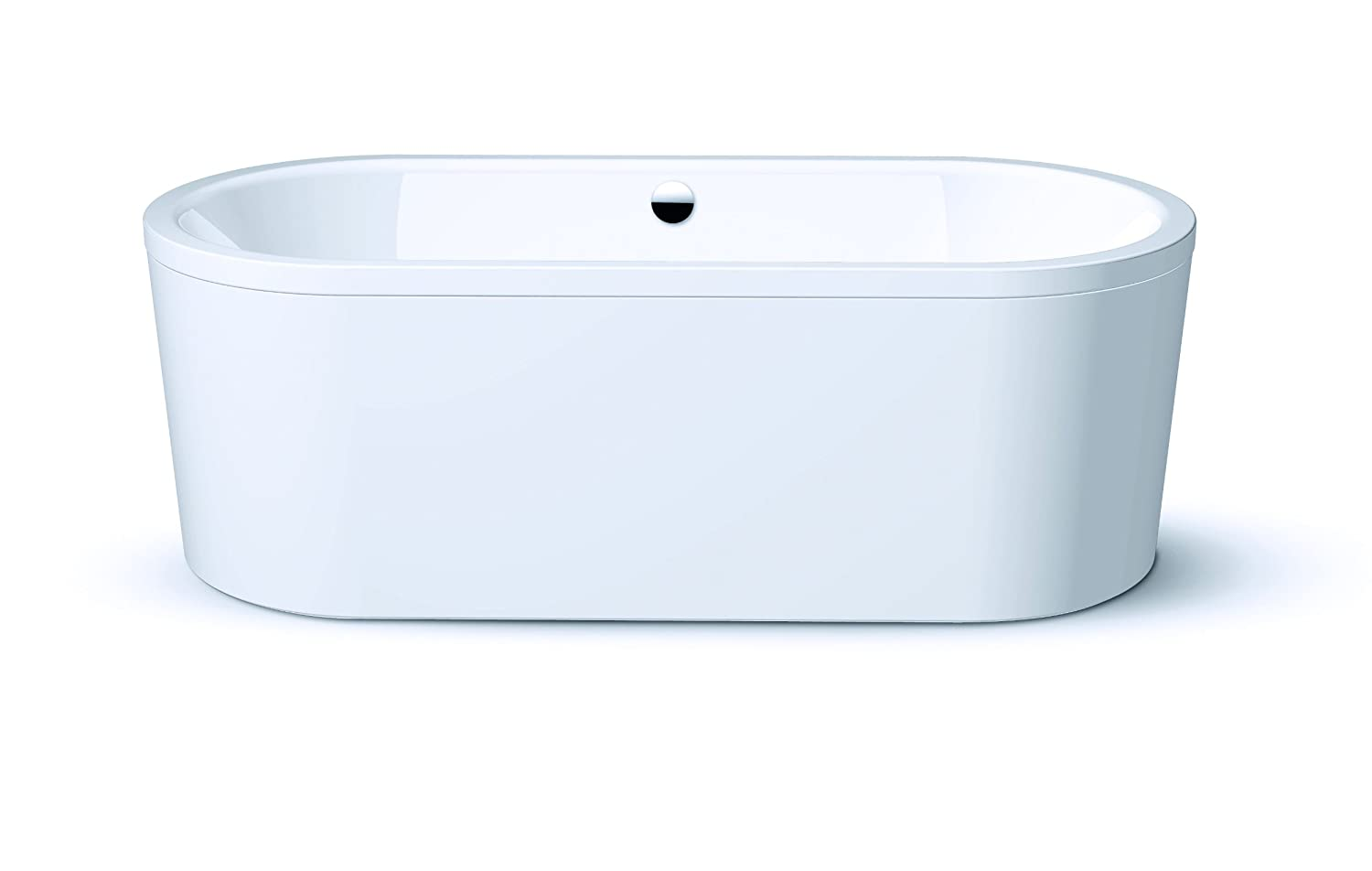 Kaldewei 128-7 Centro Duo Oval Bathtub with Moulded Panel, 70-7/8-by ...