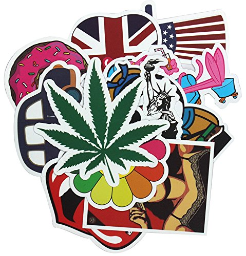 Diageng Stickers Skateboard Snowboard Vintage Vinyl Sticker Graffiti Laptop Luggage Car Bike Bicycle Decals mix Lot Fashion Cool Random style milticolor(pack of 50)