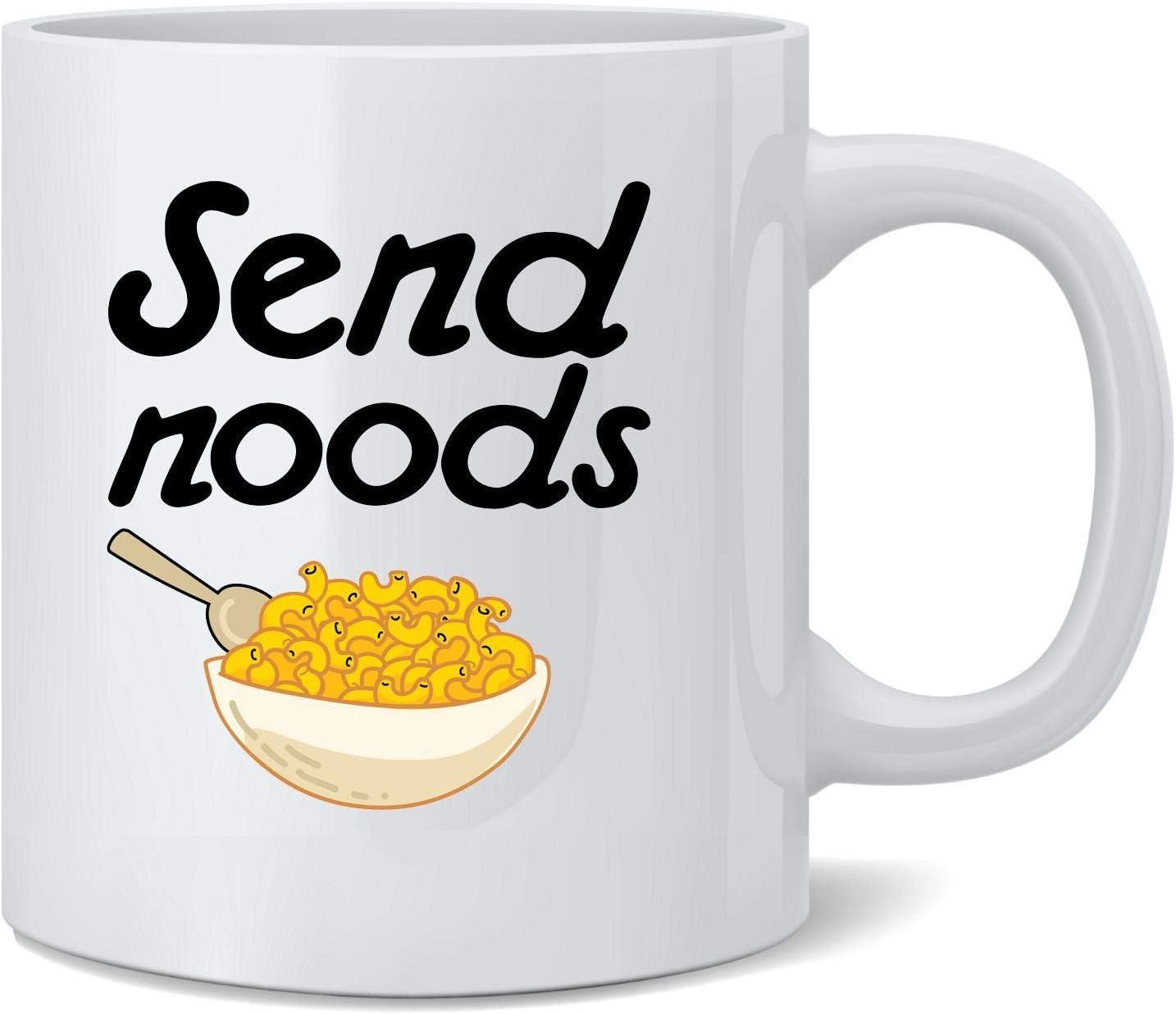 Poster Foundry Send Noods Food Pun Noodles Pun Ceramic Coffee Mug Tea Cup Fun Novelty Gift 12 oz