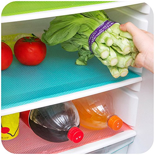YJYdada Multifunction Refrigerator Mat Fridge Anti-fouling Anti Frost Waterproof Pad (Pink)