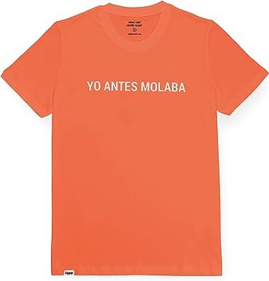 Brava Fabrics | Camiseta Hombre Manga Corta | Camiseta Roja Hombre | Camiseta Casual | Camiseta Hipster | 100% Algodón | Modelo Yo Antes molaba | Talla S: Amazon.es: Ropa y accesorios